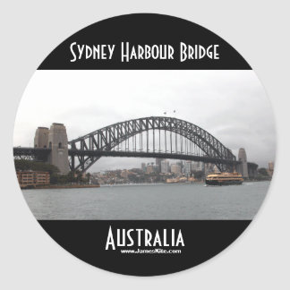 Sydney Harbour Bridge Classic Round Sticker