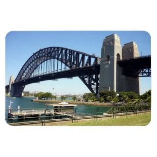 sydney harbour bridge green rectangle magnet