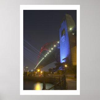 Sydney Harbour Bridge Light Show Poster