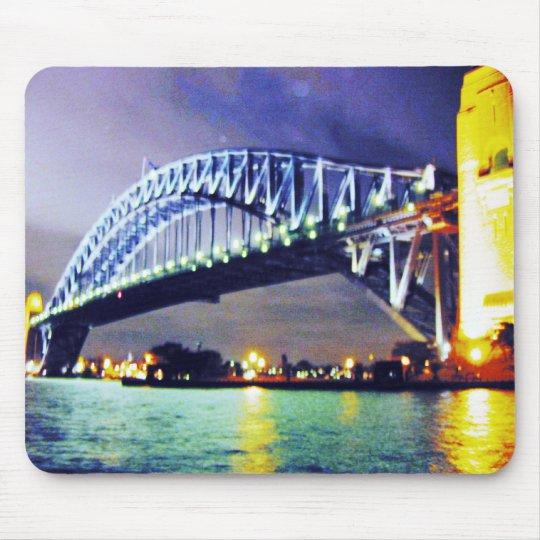 sydney harbour bridge night mouse mat