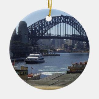 Sydney Harbour Bridge Round Ceramic Decoration