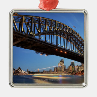 Sydney Harbour Bridge, Sydney Opera House and 2 Silver-Colored Square Decoration