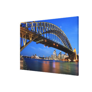 Sydney Harbour Bridge, Sydney Opera House and Canvas Print