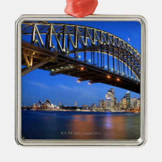 Sydney Harbour Bridge, Sydney Opera House and Silver-Colored Square Decoration