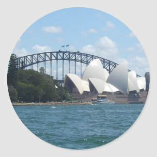 sydney harbour classic round sticker