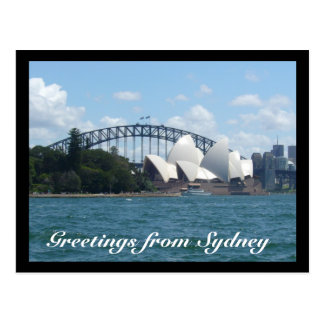 sydney harbour day post card