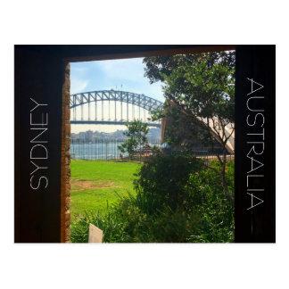 sydney harbour doorway postcard