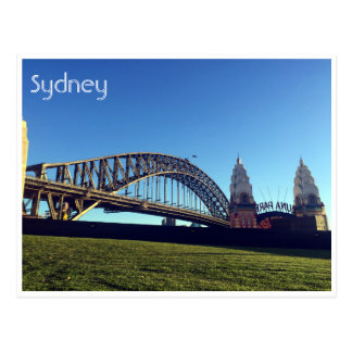 sydney harbour green postcard