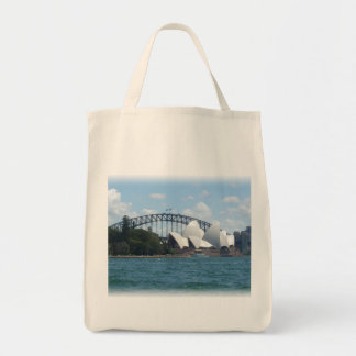 sydney harbour grocery tote bag