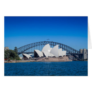 Sydney Harbour on a beautiful morning Card