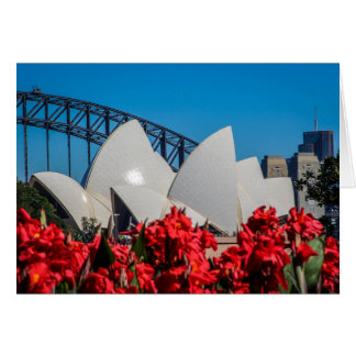 Sydney Harbour on a beautiful Spring morning Card