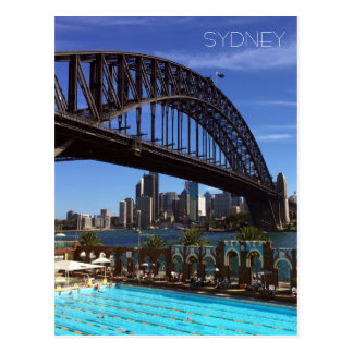 sydney harbour pool postcard
