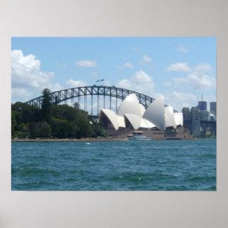sydney harbour poster