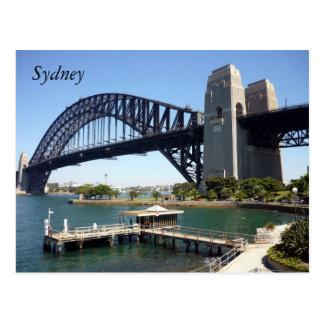 sydney harbour wharf post card