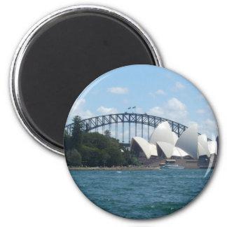 sydney hrbr 6 cm round magnet