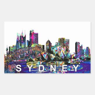 Sydney in graffiti rectangular sticker