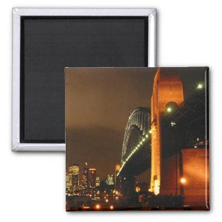 sydney night square magnet