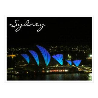 sydney opera blue vivid post cards