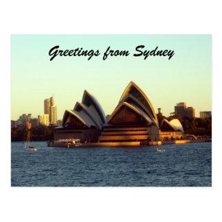 sydney opera greetings post card