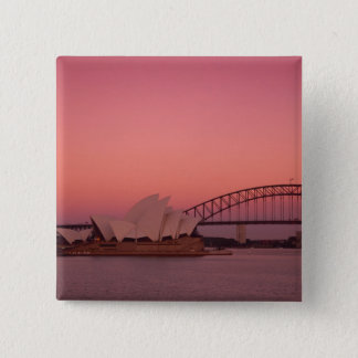 Sydney Opera House and Harbour, New South 15 Cm Square Badge