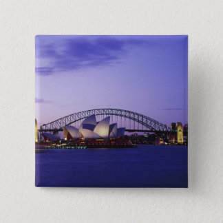 Sydney Opera House and Harbour, New South 2 15 Cm Square Badge
