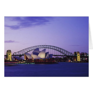 Sydney Opera House and Harbour, New South 2 Card