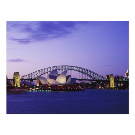 Sydney Opera House and Harbour, New South 2 Postcard