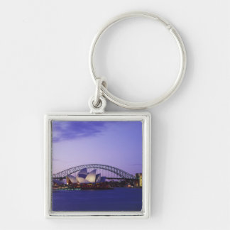 Sydney Opera House and Harbour, New South 2 Silver-Colored Square Key Ring