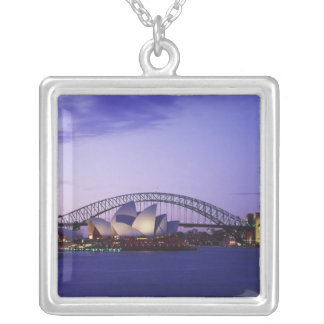 Sydney Opera House and Harbour, New South 2 Silver Plated Necklace