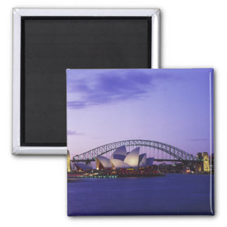 Sydney Opera House and Harbour, New South 2 Square Magnet