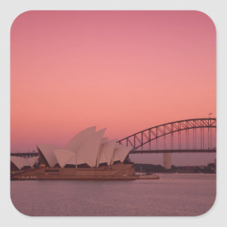 Sydney Opera House and Harbour, New South Square Sticker