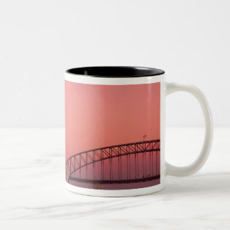 Sydney Opera House and Harbour, New South Two-Tone Coffee Mug
