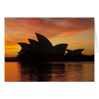 Sydney Opera House at Dawn, Sydney, New South Card
