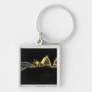 Sydney Opera House at night, New South Wales, 2 Key Ring