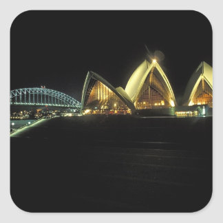 Sydney Opera House at night, New South Wales, 2 Square Sticker