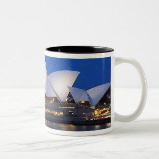 Sydney Opera House at Night, Sydney, New South Two-Tone Coffee Mug