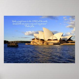 Sydney Opera House, Australia Poster