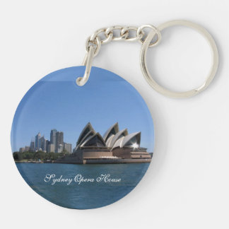 Sydney Opera House, Circle (double-sided) KeyChain