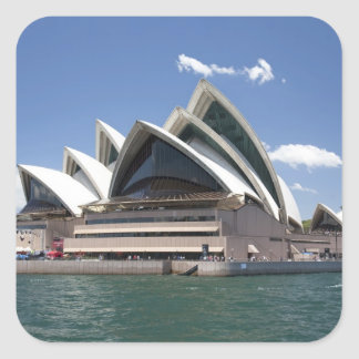 Sydney Opera House exterior, Sydney, New South Square Stickers