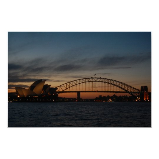 Sydney Opera house & Harbour Bridge Poster