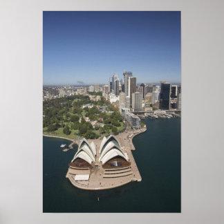 Sydney Opera House Royal Botanic Gardens CBD Posters
