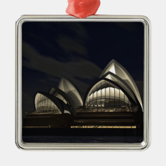 Sydney opera house Silver-Colored square decoration