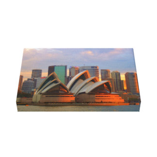 Sydney Opera house sunset canvas