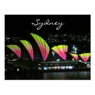 sydney opera house vivid postcard