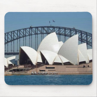 Sydney Opera House with Harbour Bridge Background Mouse Mat