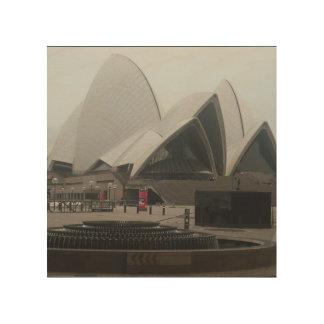 Sydney opera house wood wall art