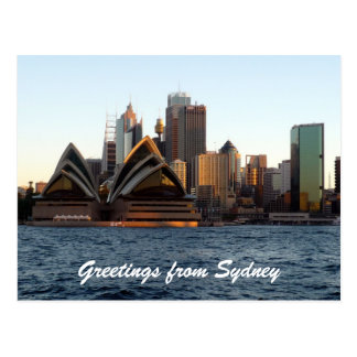 sydney opera skyline postcard