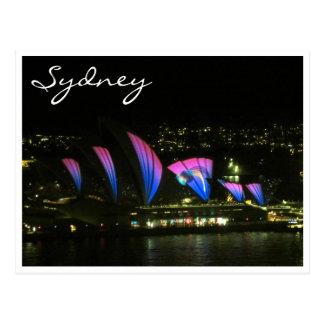 sydney opera vivid violet post cards
