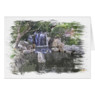 Sydney Oriental Gardens Waterfall Card