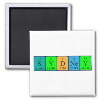 Sydney periodic table name magnet
